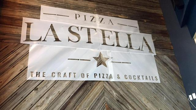 The Pizza La Stella signage was preparing to be painted on the walls on Dec. 6, 2016.