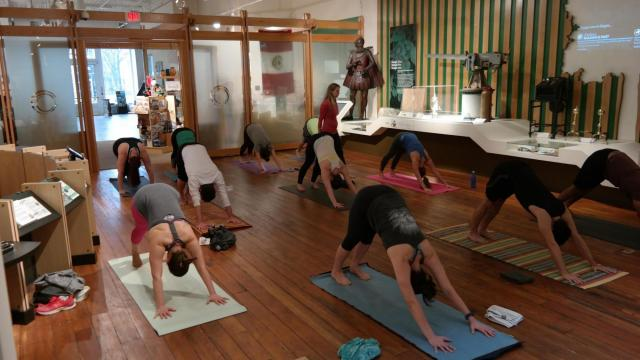 Ashtanga Yoga classes are held twice a month at the City of Raleigh Museum in downtown. (Courtesy of Dave Ingham)