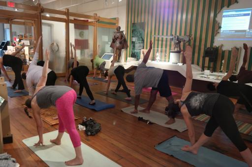 Free yoga classes at COR Museum