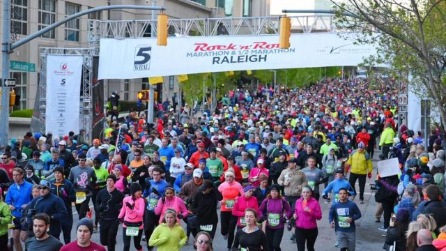 The 4th annual Rock 'n' Roll Raleigh Marathon & ½ Marathon will run through Raleigh the weekend of April 1 – 2, 2017.