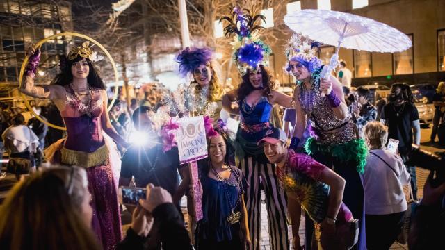 Durham Mardi Gras parade