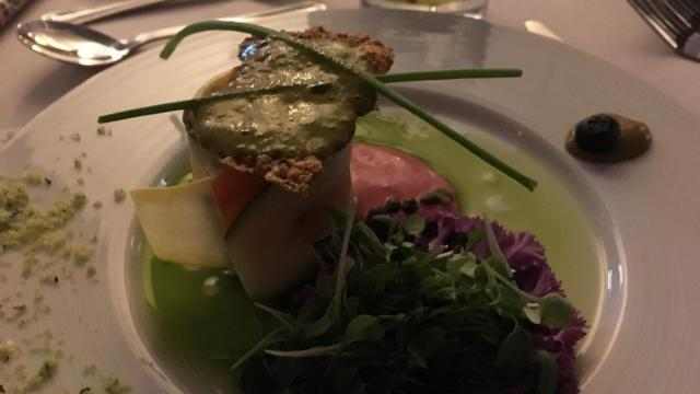 Zucchini feta roll