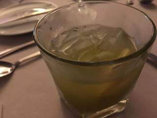 TOPO whiskey and basil cocktail