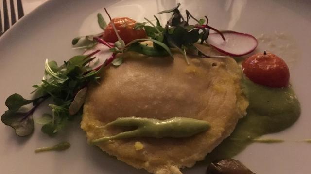 Egg ravioli