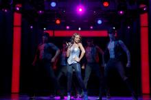 Deborah Cox as Rachel Marron and Company in The Bodyguard (Joan Marcus)