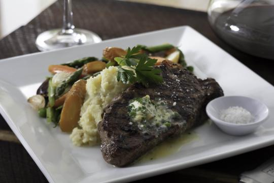 Seasons 52's New York Strip steak.