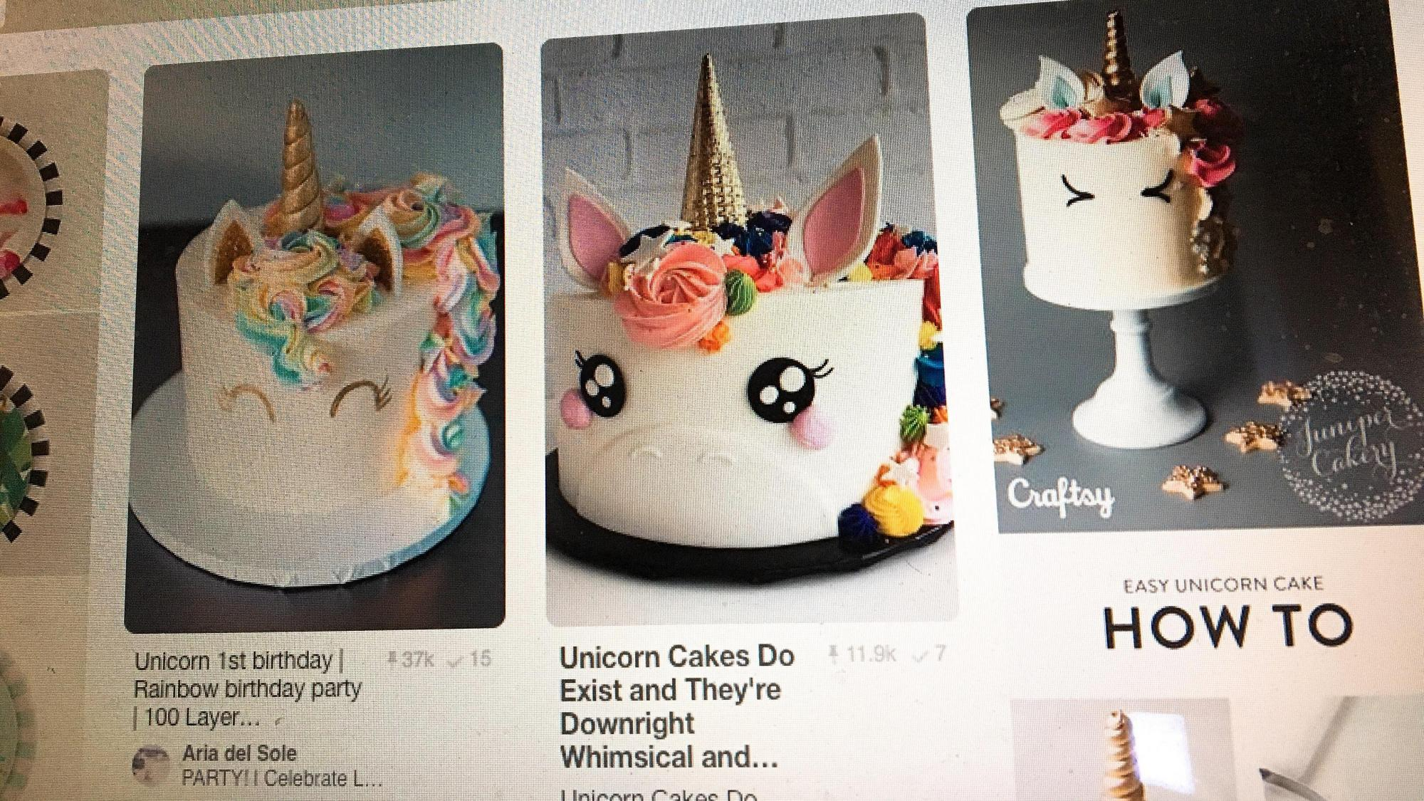 Pinterest Fail: Popular unicorn cake not so easy to make