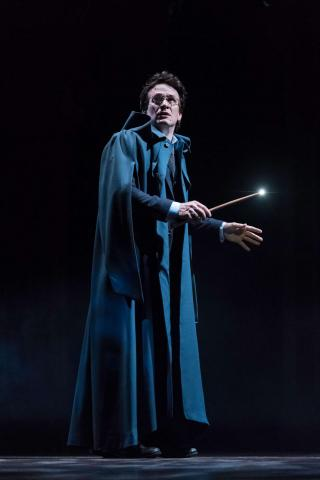 """Jamie Parker as Harry Potter has his wand at the ready in """"Harry Potter and the Cursed Child."""" (Deseret Photo)"""