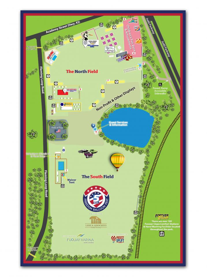 WRAL Freedom Balloon Fest map 2017