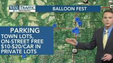 Plenty of options for parking near balloon festival