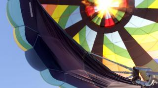 Get fired up: Powerful propane inflates hot air balloon