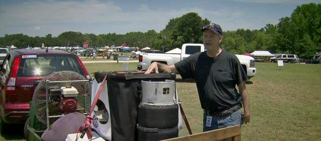 Pilot soars to new heights with homemade hot air balloon