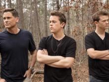 Actor Rob Lowe and his sons, Matthew and John Owen