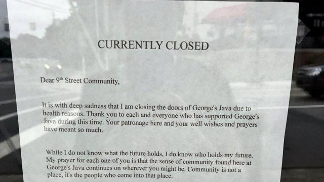 George's Java has closed in Durham (Photo by Sarah Kruger)