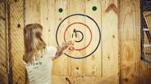 IMAGES: Ax throwing bar sets opening date in Durham