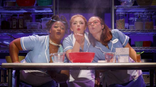 Charity Angel Dawson, Desi Oakley and Lenne Klingaman in the national tour of Waitress (Photo by Joan Marcus)