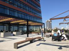 The rooftop terrace at The Dillon