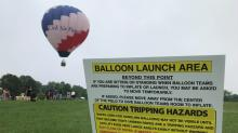 IMAGE: Low clouds but high spirits Saturday at Freedom Balloon Fest