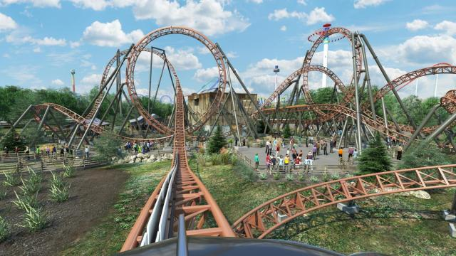 60c49b0d8d7a43 Carowinds provided a rendering of its new Copperhead Strike roller coaster