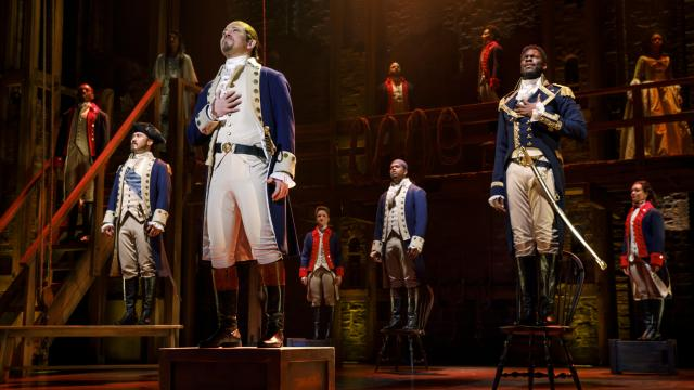 Joseph Morales and Nik Walker will lead the second national tour of Hamilton as Alexander Hamilton and Aaron Burr, respectively. ((Photo by Joan Marcus)