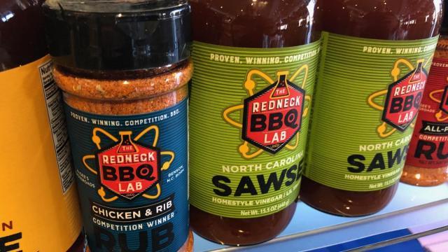 Redneck BBQ Lab sauce and rubs