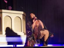 Lizzo performs at sold-out show at Red Hat Amphitheater