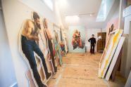 IMAGES: Scott Avett preps for first museum art show