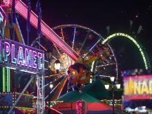NC State Fair at night