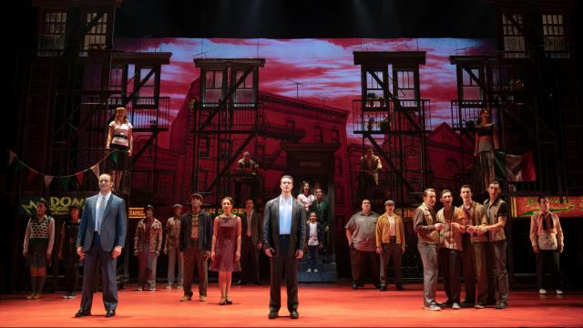 The Company of A BRONX TALE. Photo by Joan Marcus.