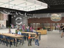 Rendering of Old North State Food Hall