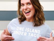 Vivian Howard poses in T-shirt