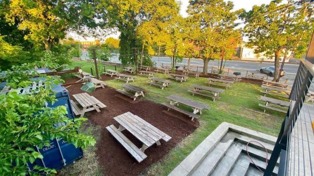 Ponysaurus Brewing opened a new outdoor beer garden (Courtesy of Ponysaurus)
