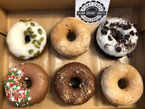Vegan donuts at Plant Cakes in Wake Forest