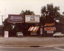 Many locals recall the original Snoopy's and its memorable billboards. Image courtesy of Sarah Webb.