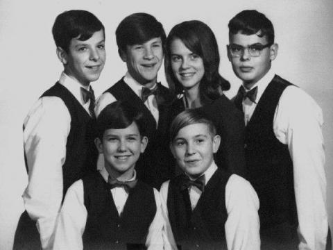A very early photo of group members who would become the Band of Oz.