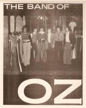 An early flyer for the Band of Oz, which was comprised of high school students who formed a professional-level band at a young age in Greenville, NC. Now, the Band of Oz is in the North Carolina Hall of Fame for music.