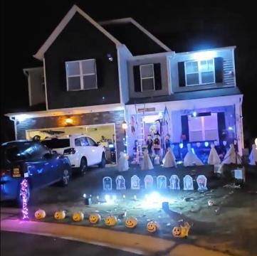 Fleming Family Lights at Halloween