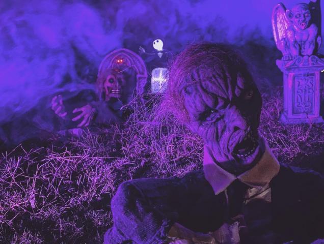 Halloween displays.