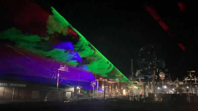 Holiday laser light show takes over Wilson's Whirligig Park