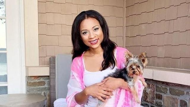 WRAL anchor and reporter Mikaya Thurmond and her dog, Tinkerbell (Instagram)