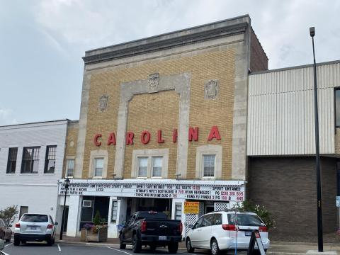 Carolina theatre in downtown Hickory