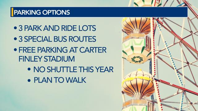 Parking options for N.C. State Fair visitors