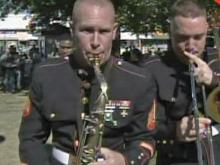 Performance of 2nd Marine Div. party band