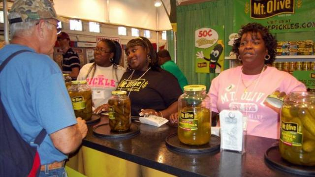 Mt. Olive pickles are always a hit at the fair.