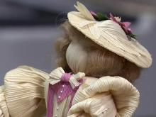 Corn husks help woman bring dolls to life