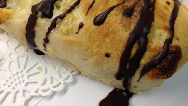 La Farm Bakery's white chocolate baguette covered in Belgian chocolate.