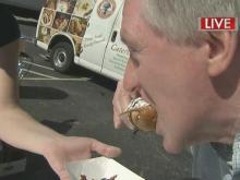 'It's fantastic:' Mason samples peanut-butter pickle