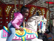The rides delight young and old at the North Carolina State Fair.