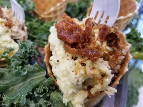 Crack-n-Cheese Waffle Cone