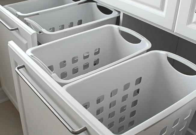 If clean laundry tends to pile up, buying a new hamper and labeling it for clean clothes can help keep dirty and clean laundry separate.